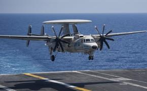 Картинка Посадка, ДРЛО, Авианосец, US NAVY, E-2D Hawkeye