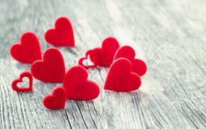Картинка любовь, сердце, сердечки, красные, red, love, wood, romantic, hearts, valentine's day
