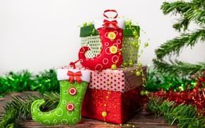 Картинка праздник, новый год, подарки, коробки