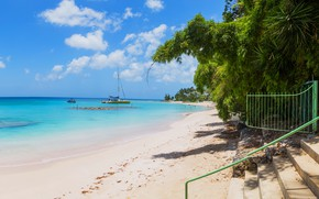 Картинка пляж, океан, beach, ocean, карибы, caribbean, saint-peter
