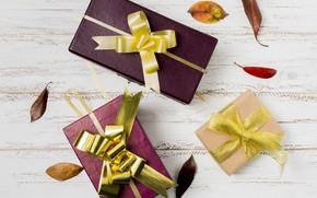 Картинка ленты, подарки, wood, gift box