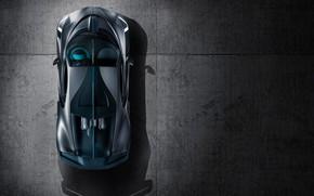 Картинка Bugatti, суперкар, вид сверху, 2018, гиперкар, Divo