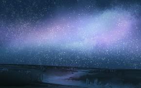 Картинка дорога, небо, ночь, природа