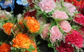 Картинка Букет, Гвоздики, искуственные цветы, Mamala ©