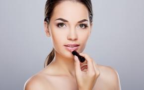 Картинка nude, look, make up, lipstick