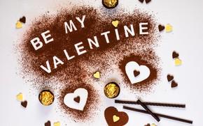 Картинка конфеты, сердечки, День святого Валентина