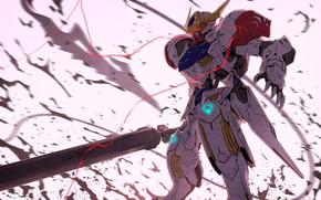 Картинка робот, воин, арт