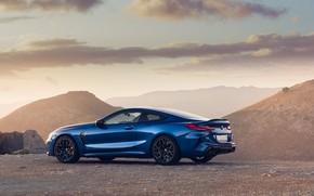Картинка закат, BMW, вид сбоку, Coupe, Competition, UK-Spec, 2019, BMW M8, F92