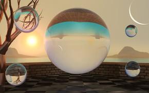 Картинка фон, шары, сферы