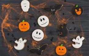 Картинка Хэллоуин, Праздник, выпечка, Печенье