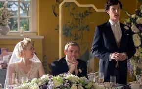 Картинка свадьба, Мартин Фриман, Бенедикт Камбербэтч, Sherlock, Sherlock BBC, Sherlock Holmes, Джон Ватсон, Sherlock (сериал), Мери …