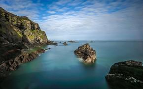 Картинка море, небо, скалы, рифы