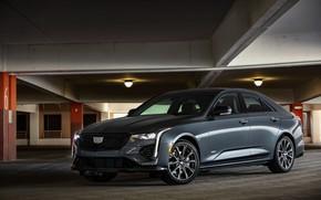 Картинка Cadillac, гараж, седан, четырёхдверный, 2020, CT4-V
