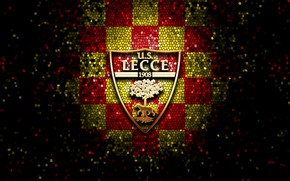 Картинка wallpaper, sport, logo, football, glitter, checkered, Lecce