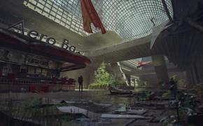 Картинка человек, разруха, аэропорт, Atrium, Atomic 2