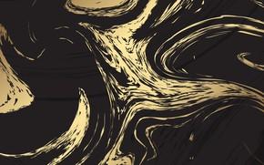 Картинка текстура, Metal, черный фон, gold, black, texture