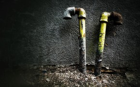 Картинка трубы, фон, стена, натурализм