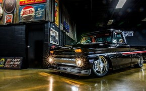 Картинка Chevrolet, Truck, Custom, Garage, Pick up, C10, Hoonigan