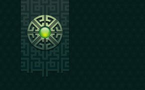 Картинка символ, иероглиф, зеленоватый цвет, символ земли