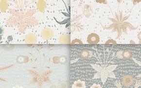 Картинка цветы, вектор, текстура, Vector, Texture, Pattern