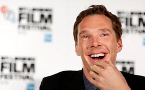 Картинка взгляд, улыбка, смех, мужчина, Бенедикт Камбербэтч, Benedict Cumberbatch, Британский актёр