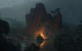 Картинка Serenity, Fantasy art, Efflam Mercier, атмосферный арт