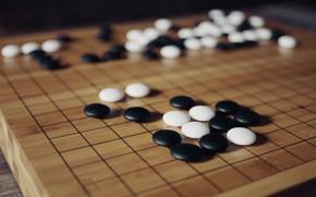 Картинка Board, Настольная игра, Baduk, Weiqi, Китайская игра, Игра Го, Белые и чёрные камни