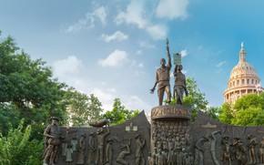Картинка США, Остин, мемориал, Техас, Texas African American History Memorial