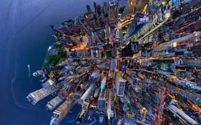 Картинка город, США, вид сверху, Нью - Йорк