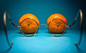 Картинка фон, очки, мандарины
