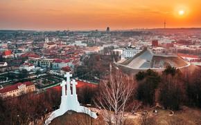 Картинка закат, Lietuva, Vilnius