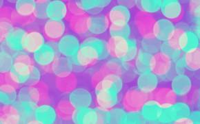 Картинка lights, фон, розовый, голубой, blue, pink, background, neon, боке, bokeh