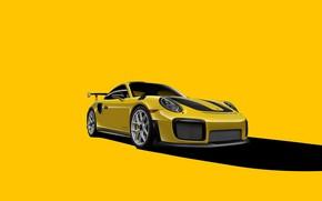 Картинка Porsche, GT2, Yellow, VAG, Backgraund