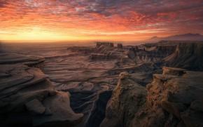 Картинка небо, облака, горы, скалы, пустыня
