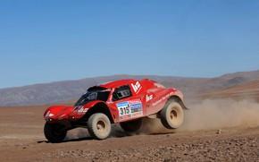 Картинка небо, красный, пустыня, равнина, rally, ралли, Buggy, Fast&Speed