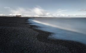 Картинка море, дом, берег