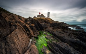 Картинка маяк, Brittany, Saint-Mathieu, Arrondissement de Brest