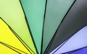 Картинка фон, цвет, радуга, colors, зонт, colorful, rainbow, umbrella, background