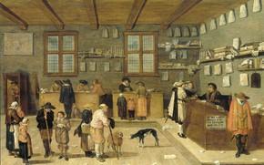 Картинка масло, интерьер, картина, Питер де Блот, Офис Адвоката, 1628, Pieter de Bloot