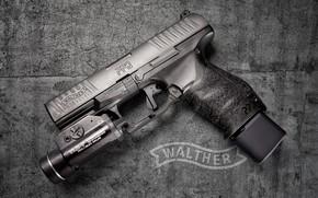 Обои пистолет, фон, трещинки, PPQ M1