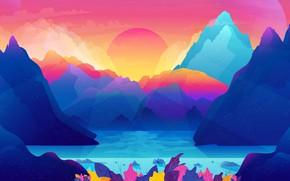 Картинка море, горы, пейзаж