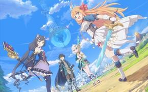 Картинка девушки, фэнтези, парень, Yuuki, Eustiana von Astraea, Kokoro Natsume, Kiruya Momochi, Princess connect! Re:Dive