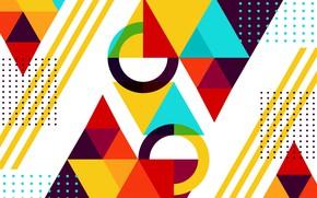 Обои белый, абстракция, фон, геометрия, Abstract, background, geometric