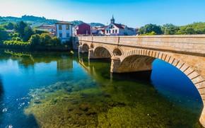 Картинка мост, город, река, Португалия, Arcos de Valdevez