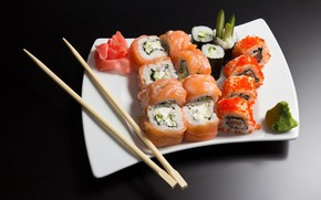 Картинка рыба, икра, суши, морепродукты