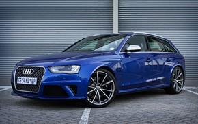 Картинка Audi, Blue, RS 4, Avant