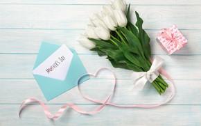 Картинка праздник, подарок, букет, тюльпаны, День матери
