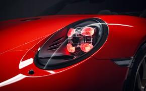 Картинка фара, 911, Porsche, 2018, Speedster, Concept II