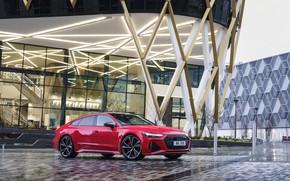 Картинка Audi, стоянка, RS 7, 2020, UK version, у здания, RS7 Sportback