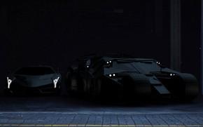 Картинка Авто, Черный, Lamborghini, Машина, Batman, Lambo, Batmobile, Матовый, Бэтмобиль, Veneno, Lamborghini Veneno, Transport & Vehicles, …